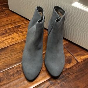 Ankle gray heeled boots women 11